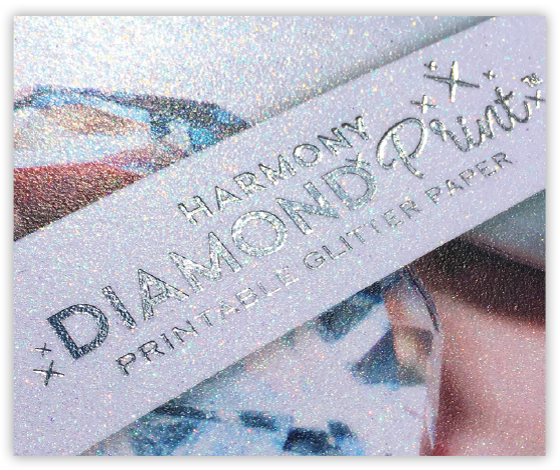 Glittery Diamond Print paper