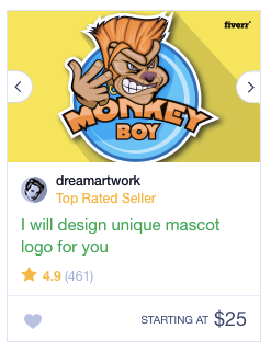 Logo design gig listing from Fiverr