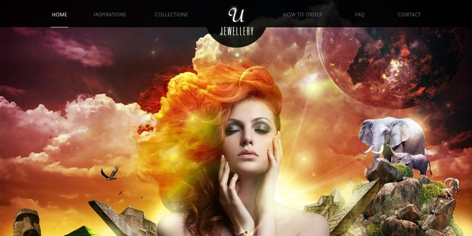 beauty and desire surreal web design