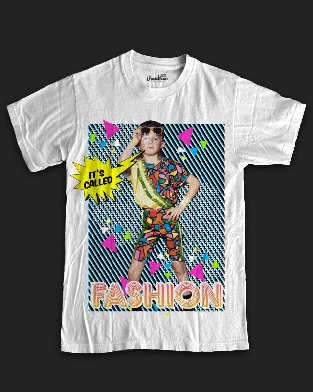 An intentionally garish 90s t-shirt design