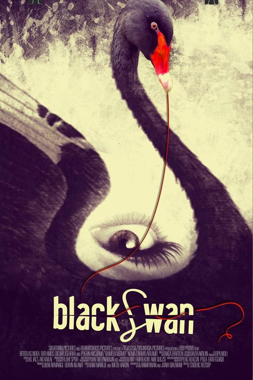 upside down eye, black swan