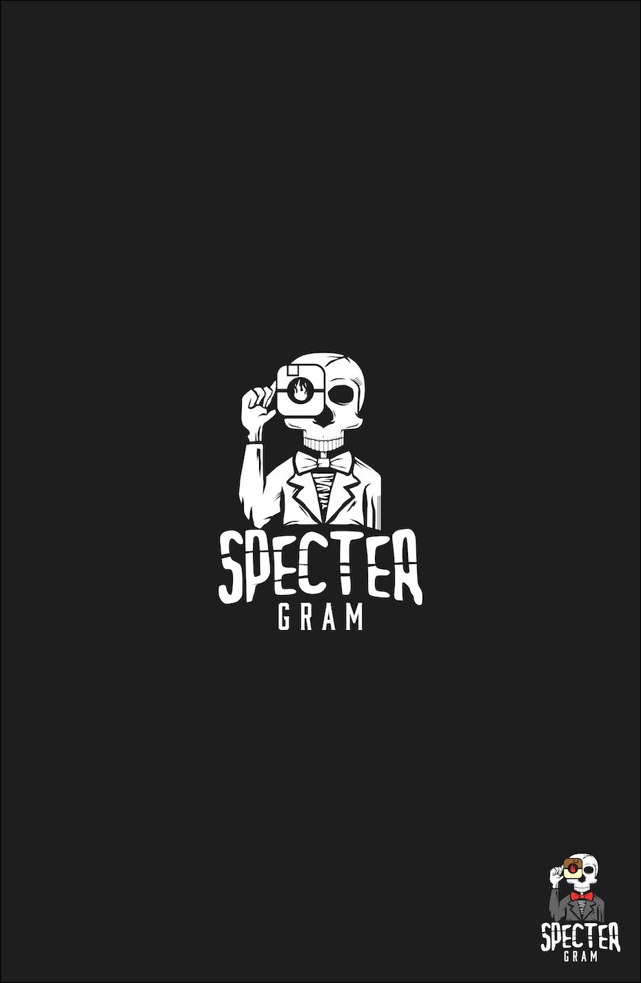 Specter Gram skeleton logo