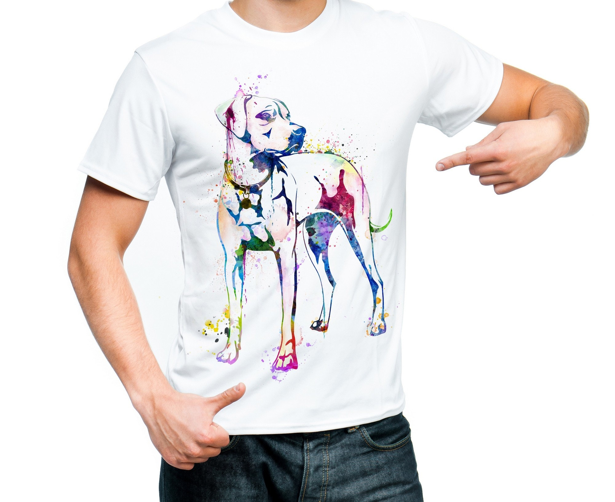 Dog Bright watercolor shirt