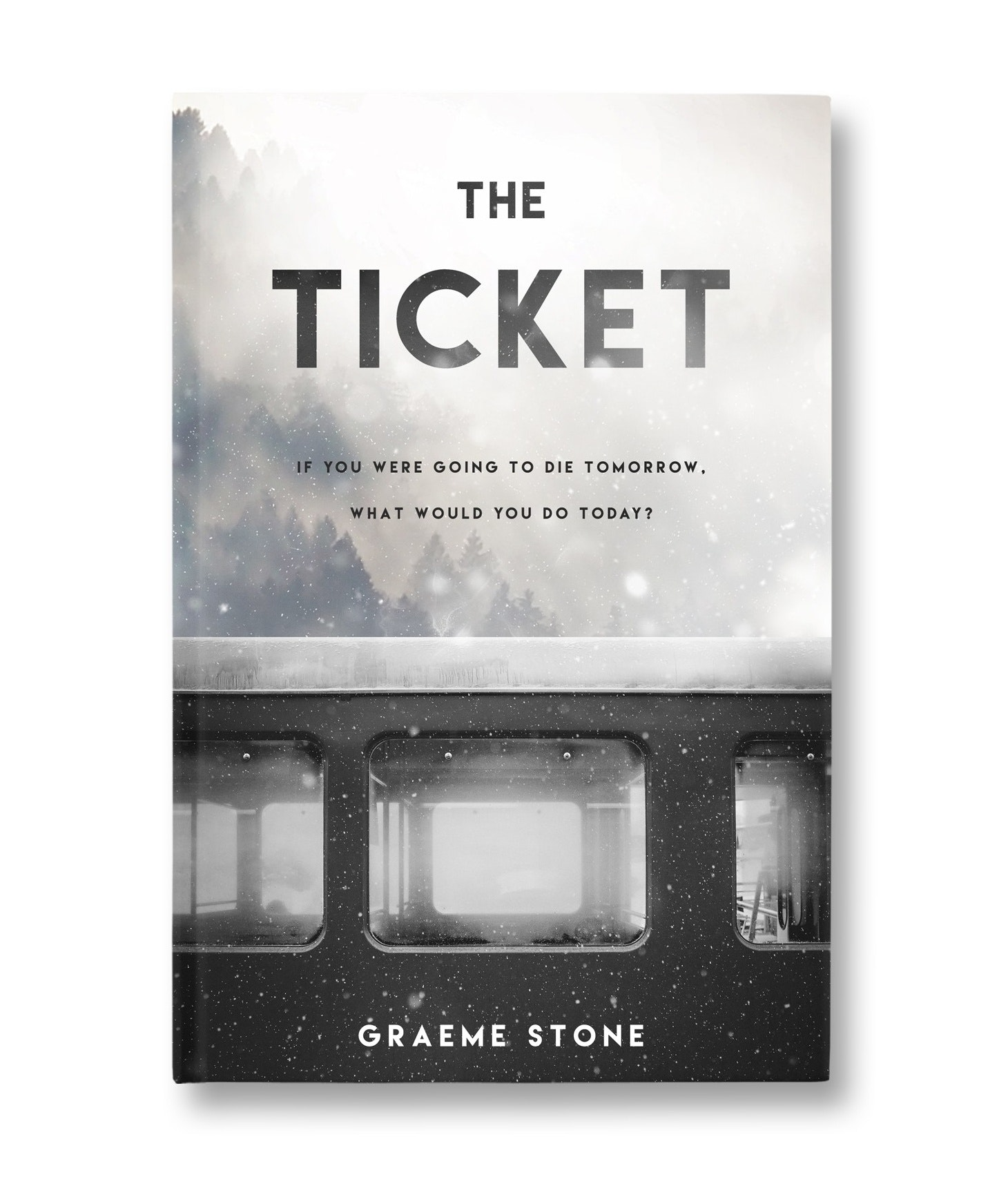 book cover design for The Ticket