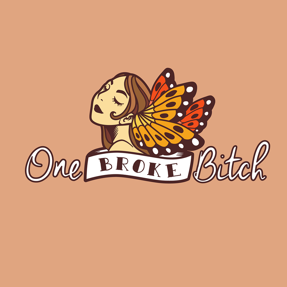 One Broke Bitch logo