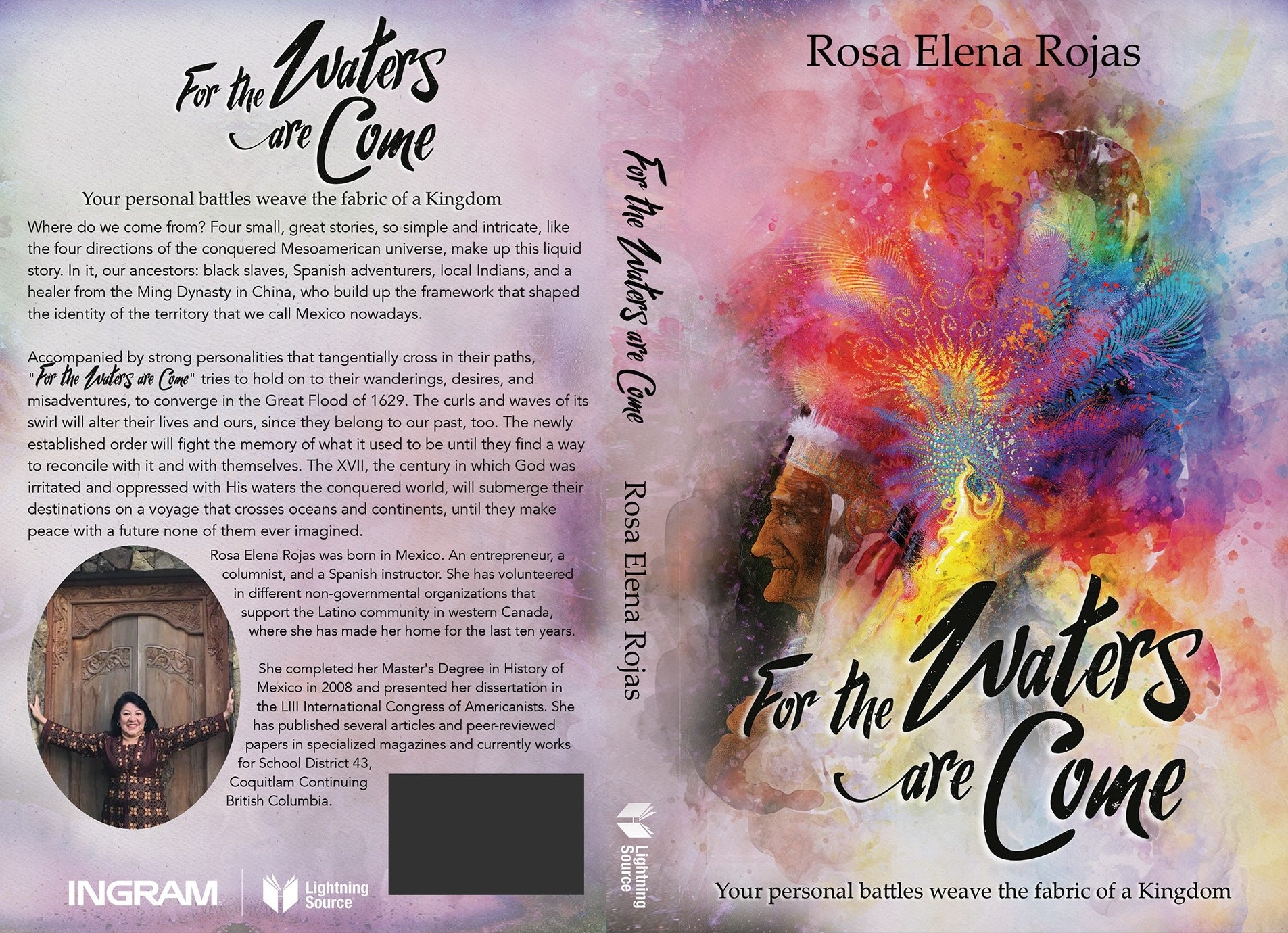 Fiction watercolor book cover