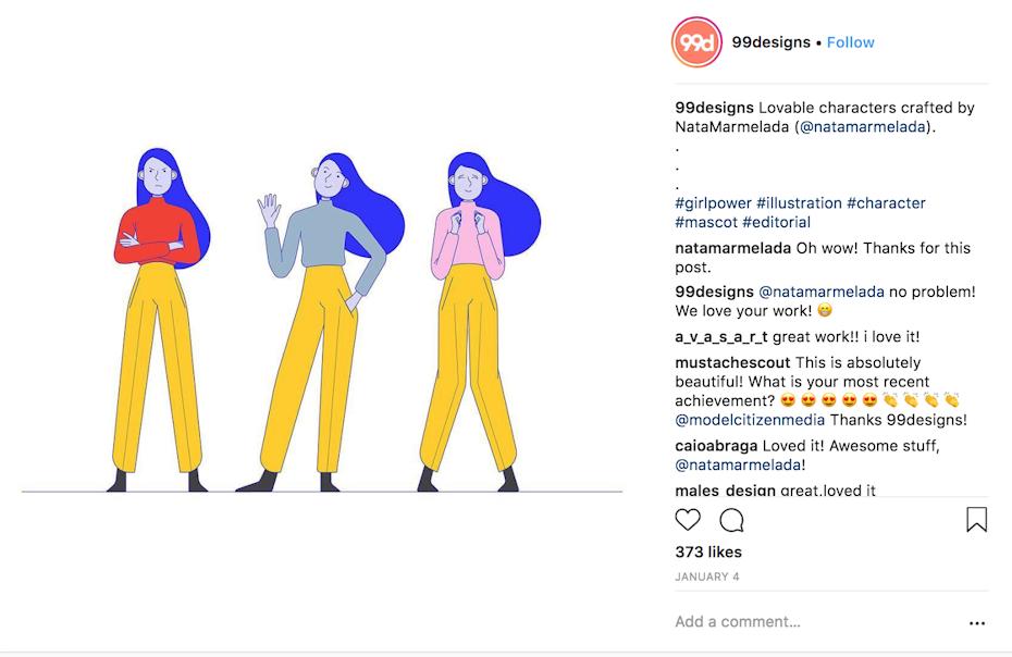 character design instagram post
