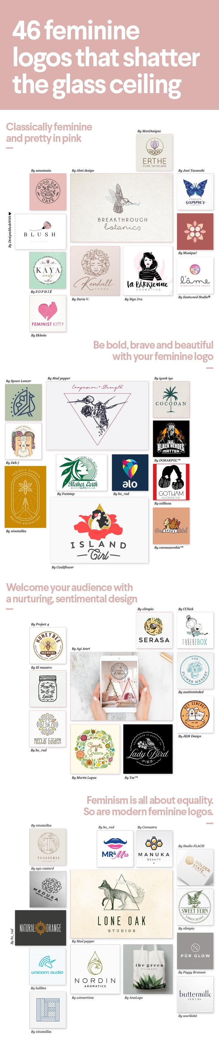 46 Feminine Logos Die Durch Die Decke Gehen 99designs