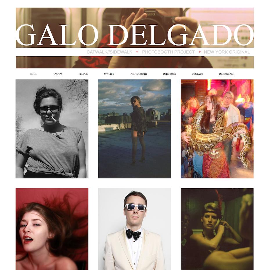 Galo Delgado Wix website