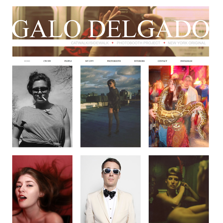 Galo Delgado Wix website