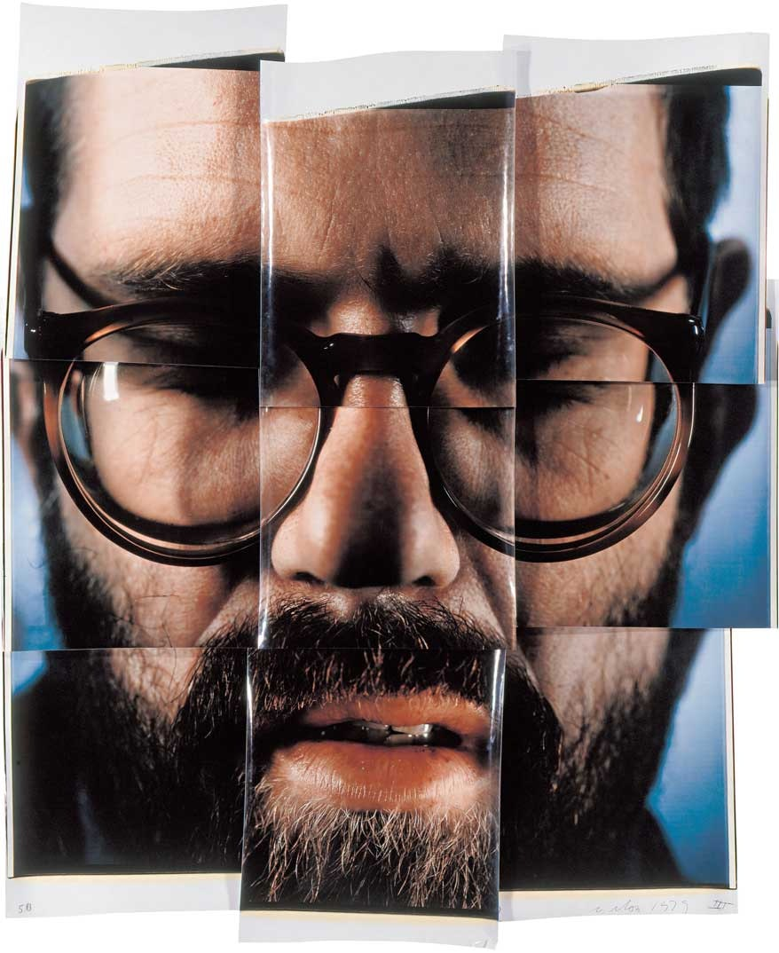 Self-portrait composite by Chuck Close