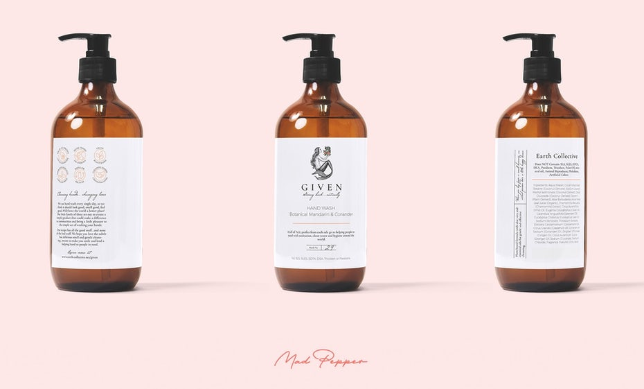 Given Hand Wash Label Design