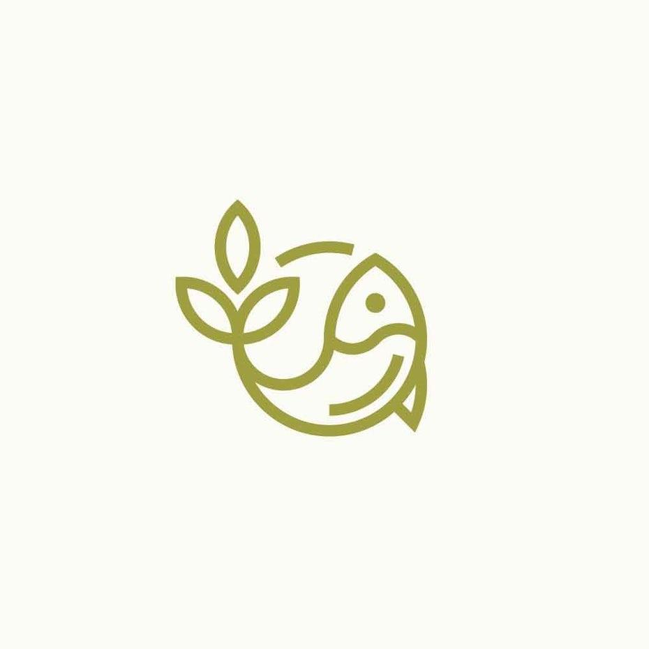 Aquaponics/permaculture farm logo