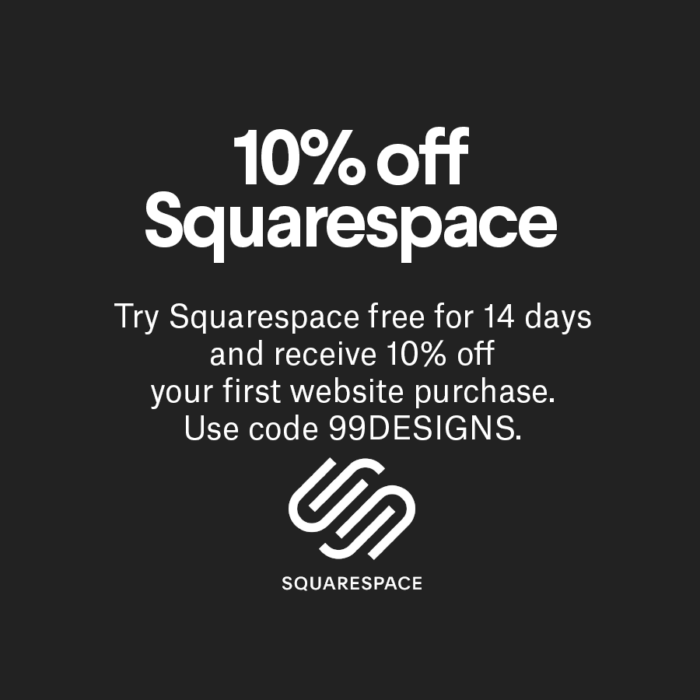 website builder Squarespace 10% Rabatt coupon