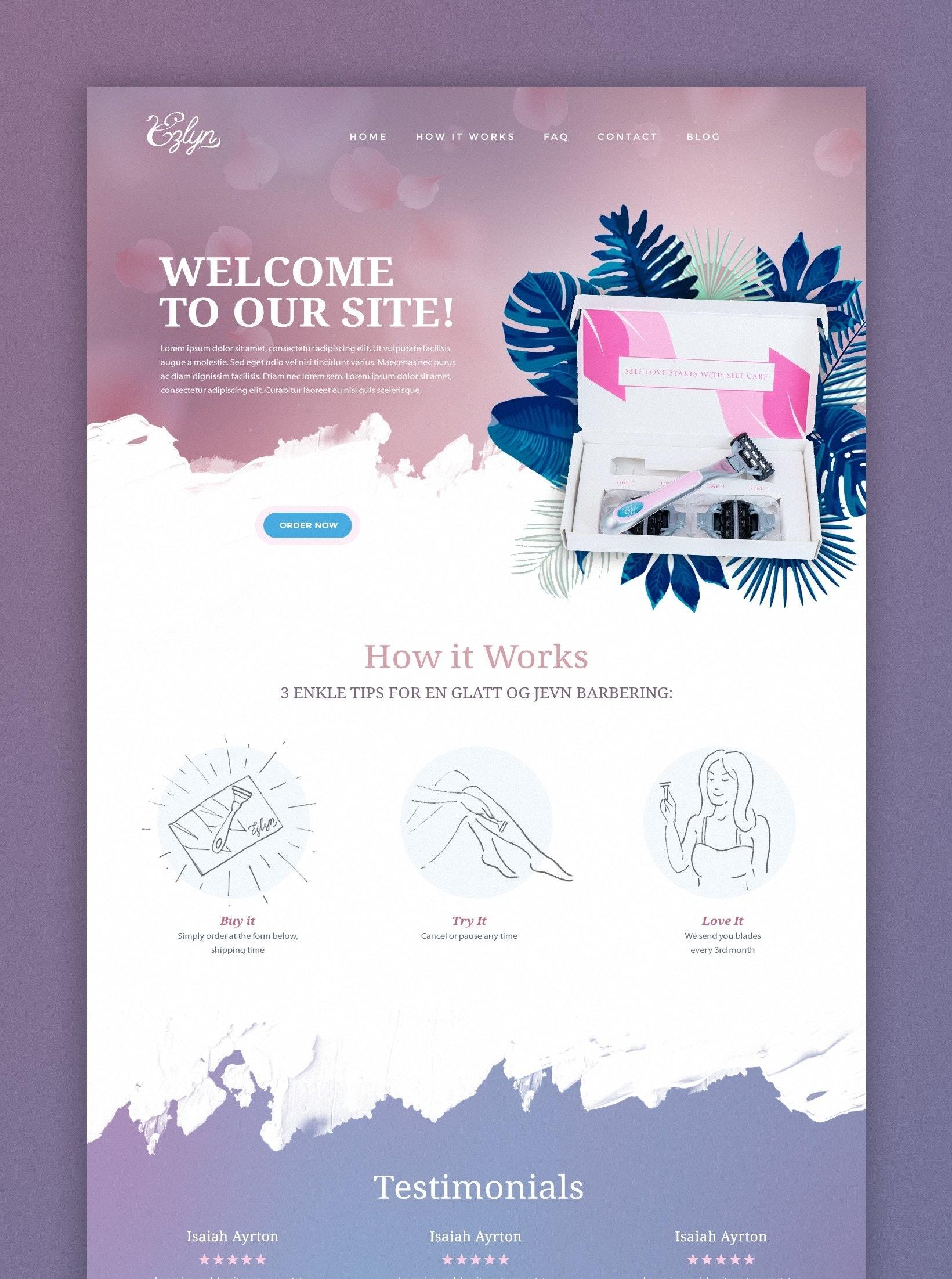 feminine web design