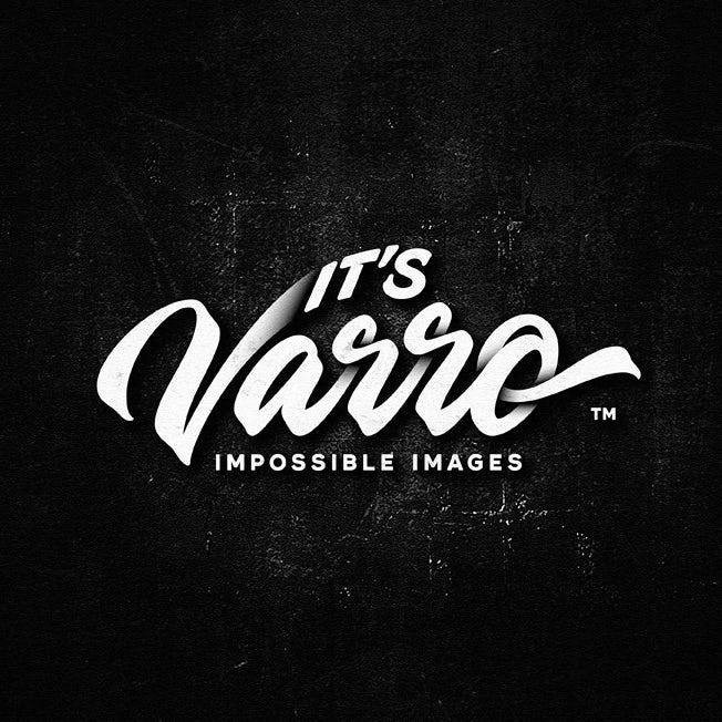 A black and white photographer's wordmark logo