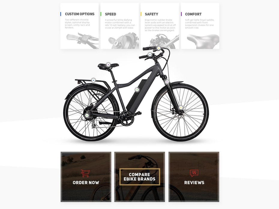 Bike website design
