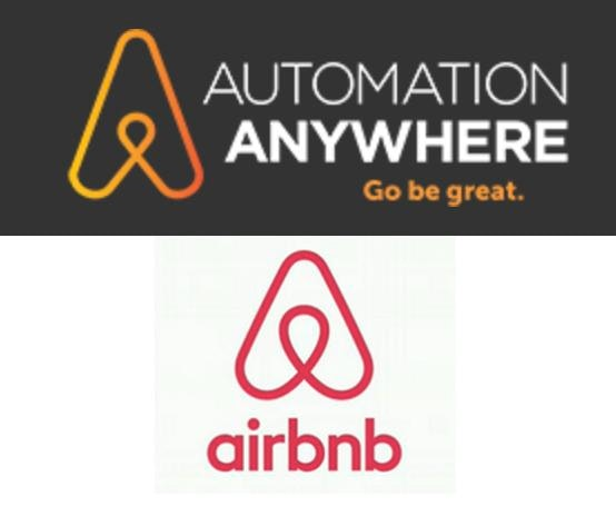Automation Anywhere and airbnb logos