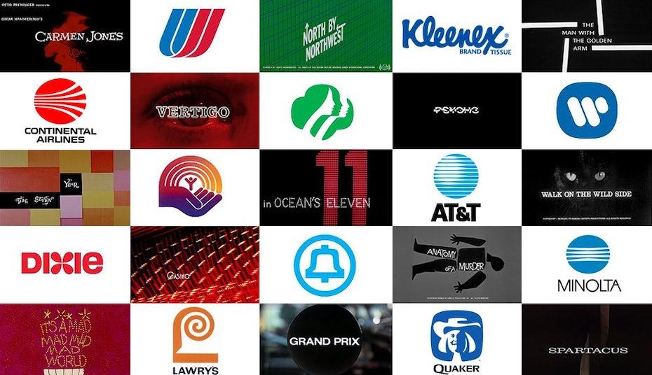 Logos by Saul Bass