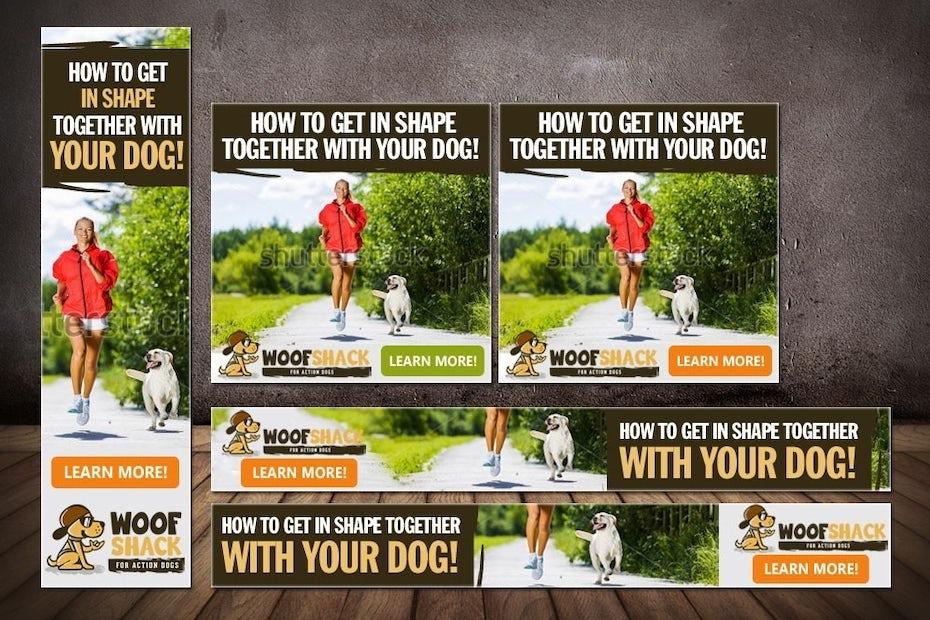 Woof Shack banner ad design