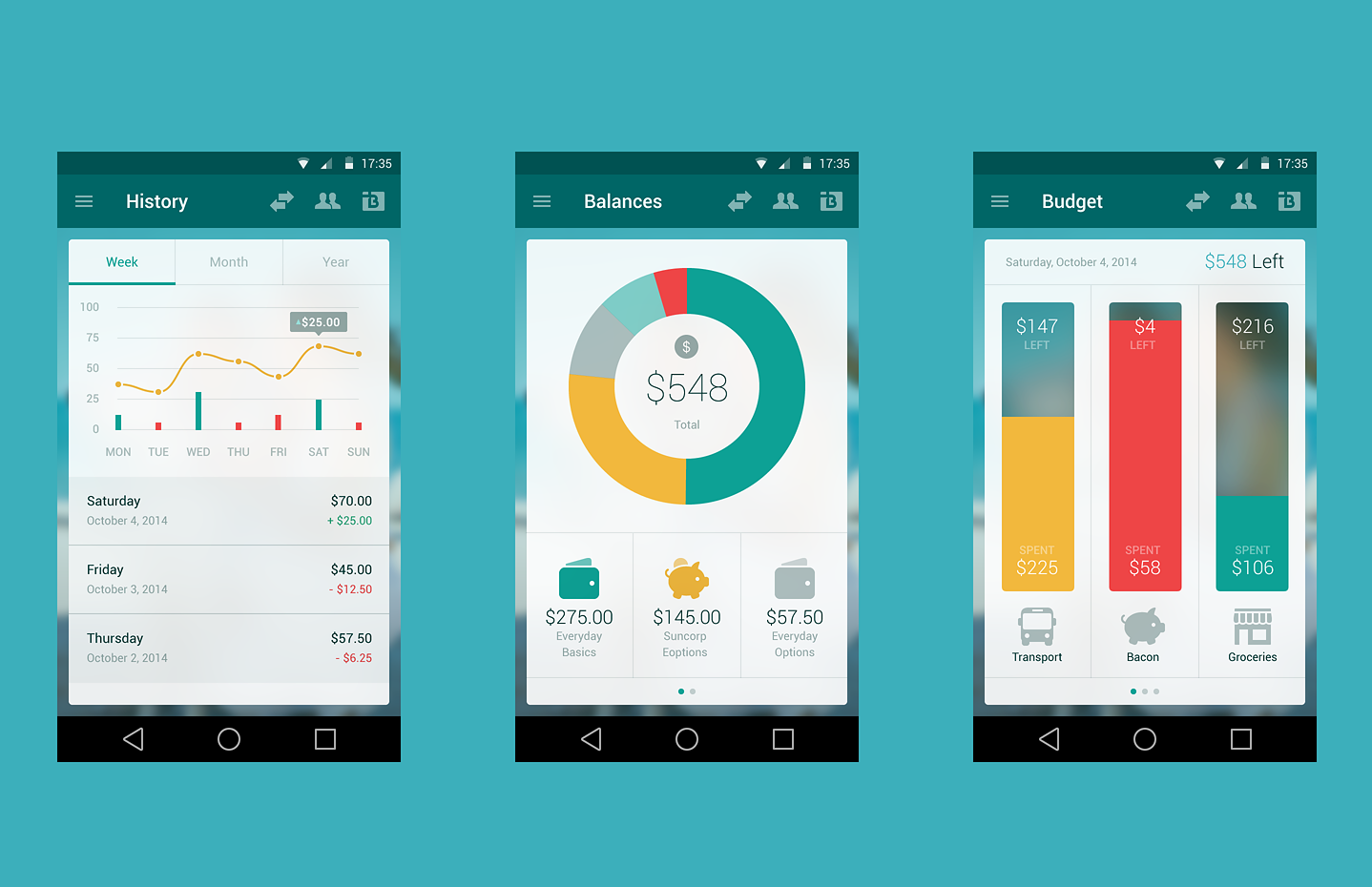 Suncorp Bank app design
