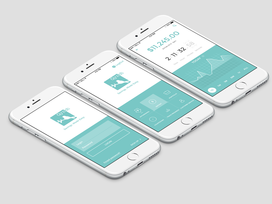 Silicon Valley banking startup app design