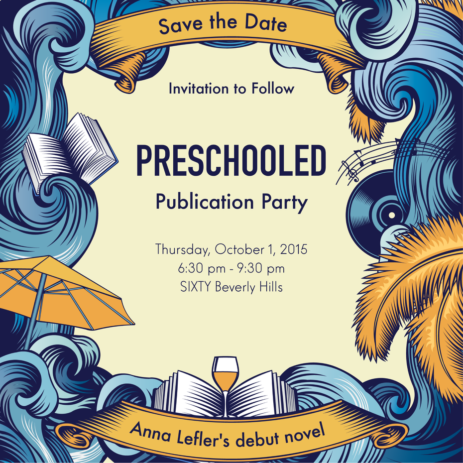 Save the date for novel launch party