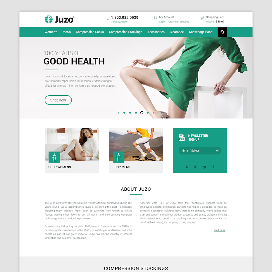JuzoShop.com website design