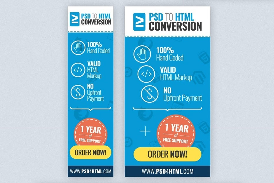 Colorful banner ad design