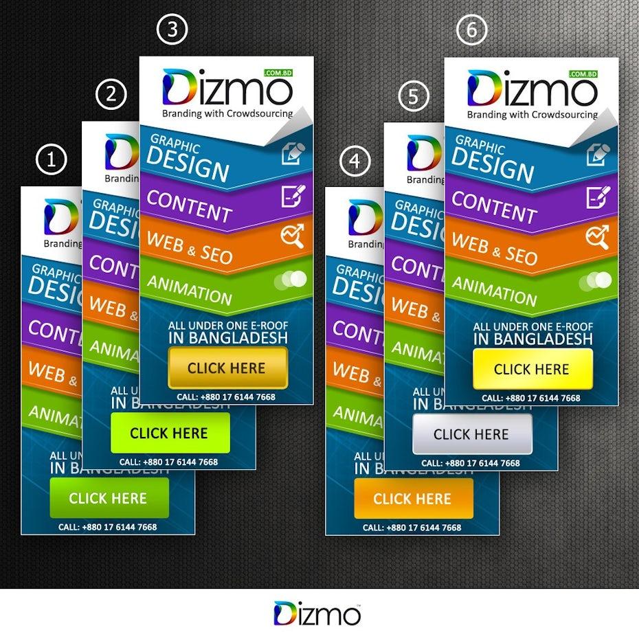 Dizmo Banner ad design