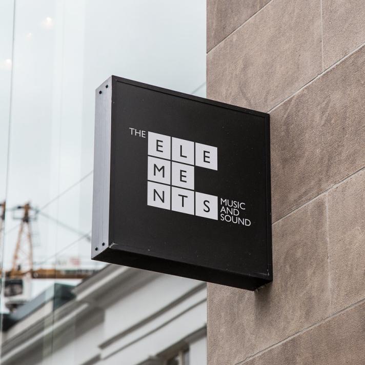 Structured square logo