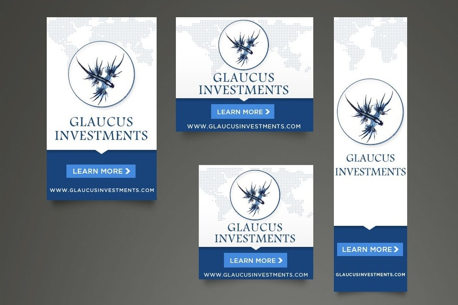 Glaucus Investments banner ad design