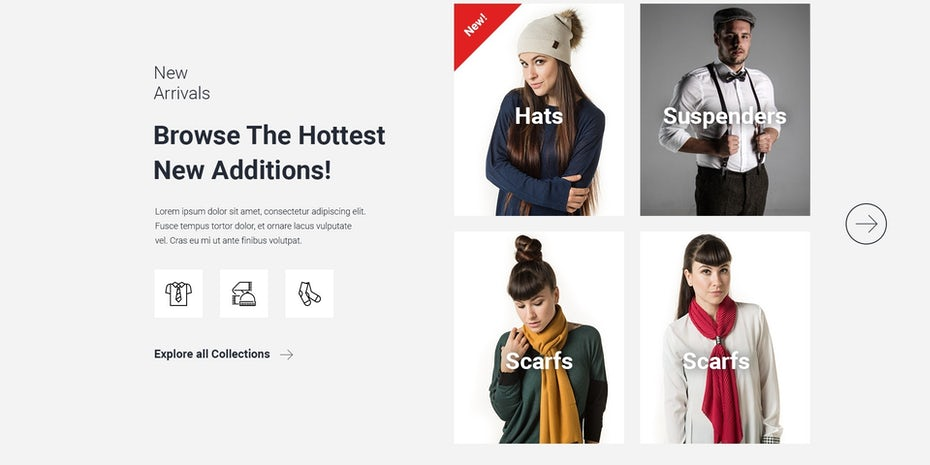 Women's fashion website design