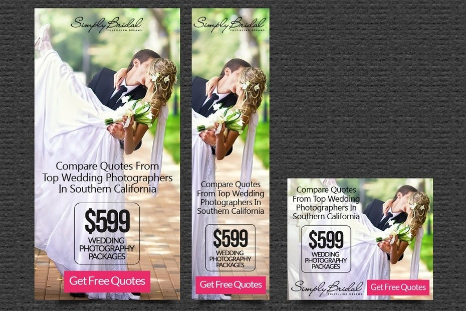 Simply Bridal banner ad design