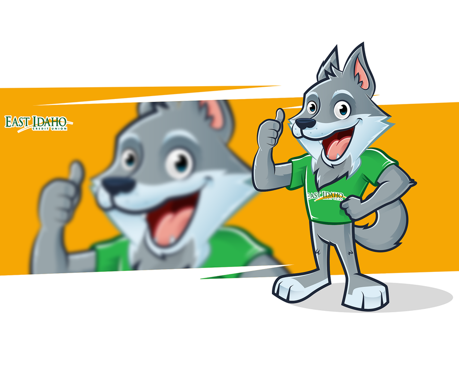 East Idaho Credit Union wolf mascot