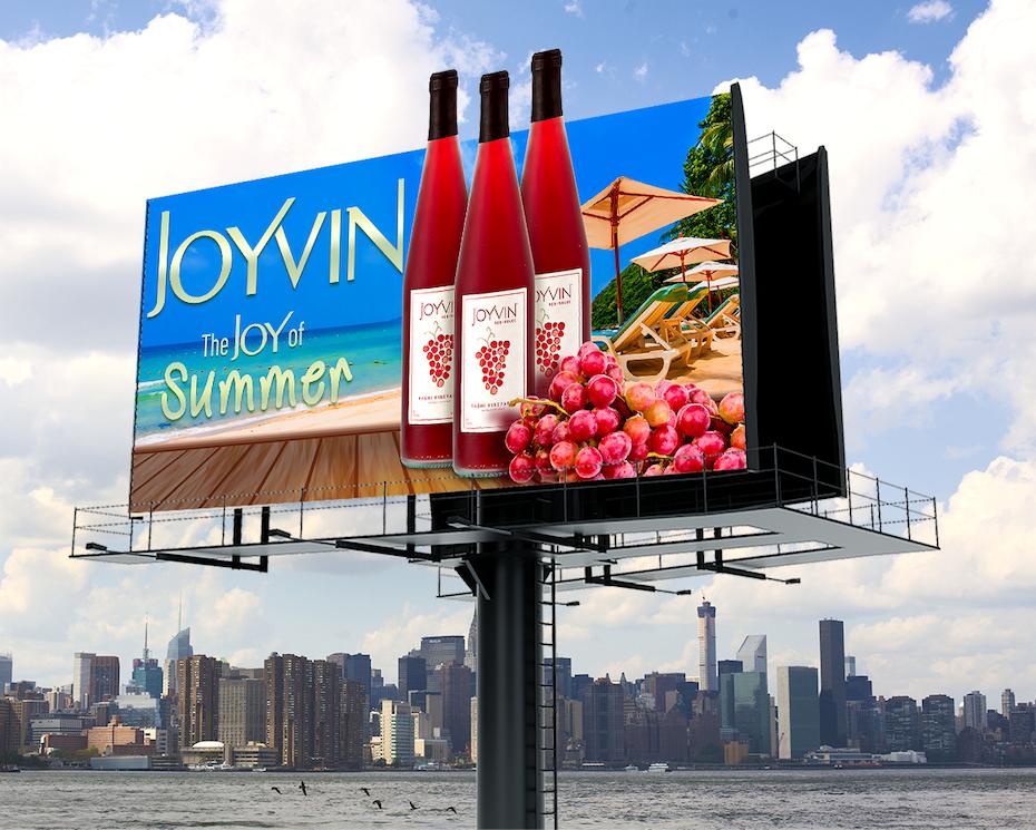 Billboard Of Joyvin Wine