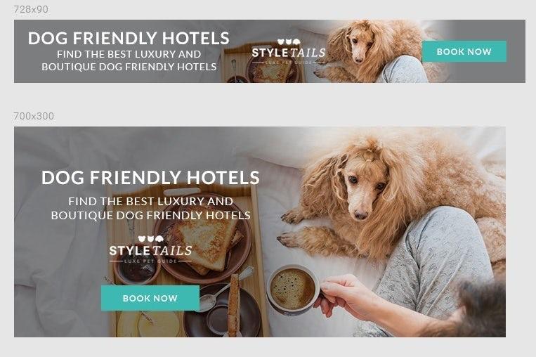StyleTails banner ad design