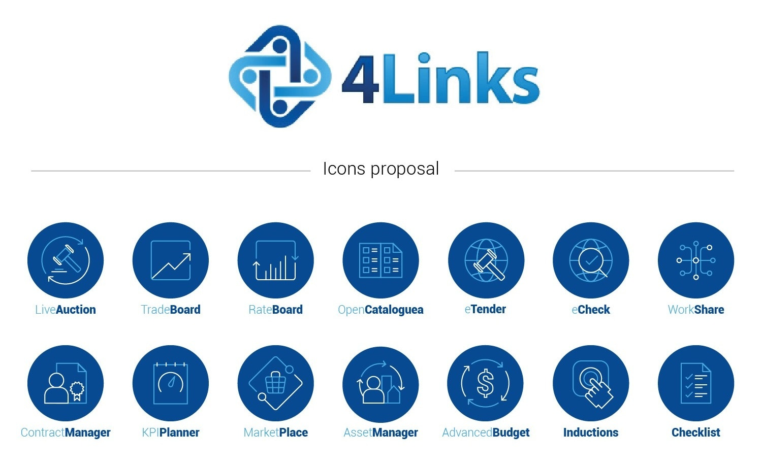 4Links Icon design