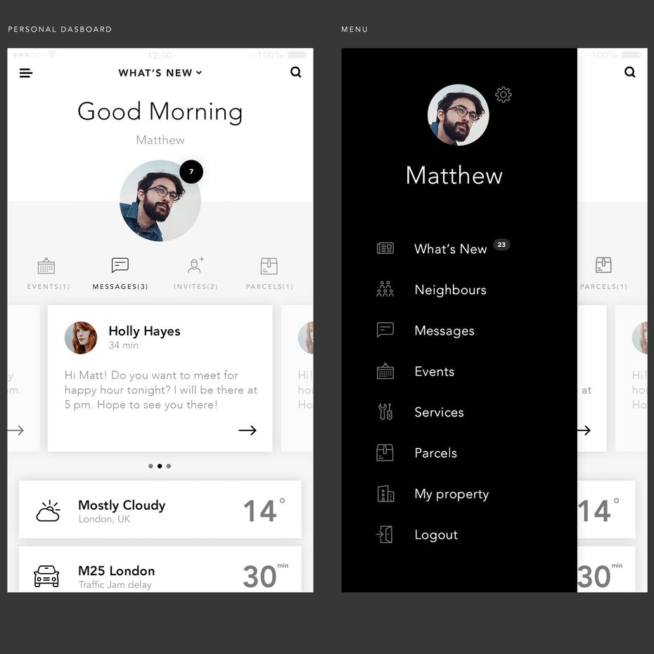 Sophisticated Community App Design