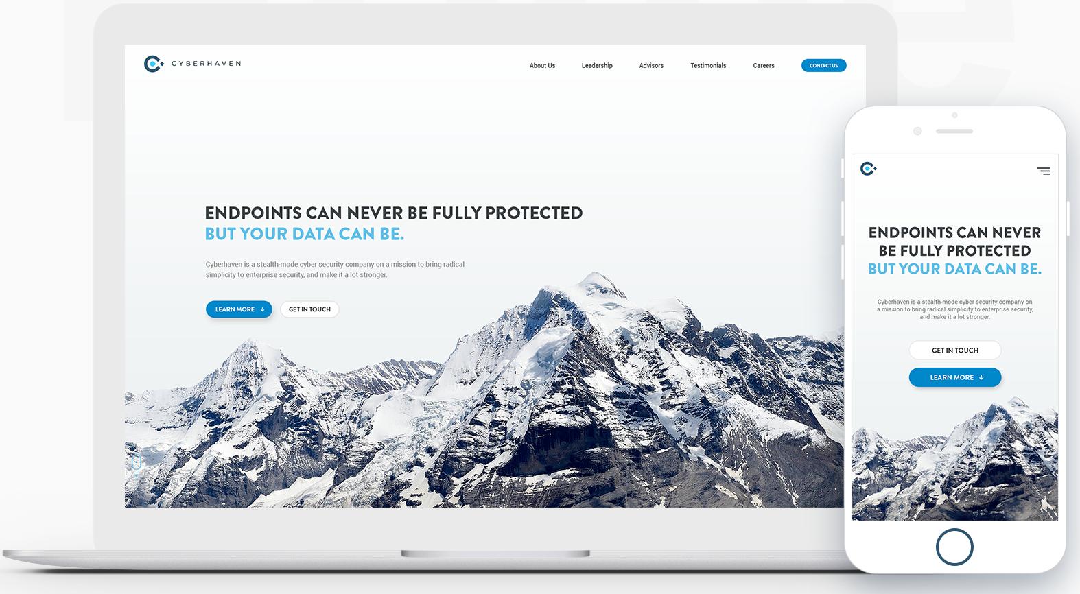 Cyberhaven website landing page