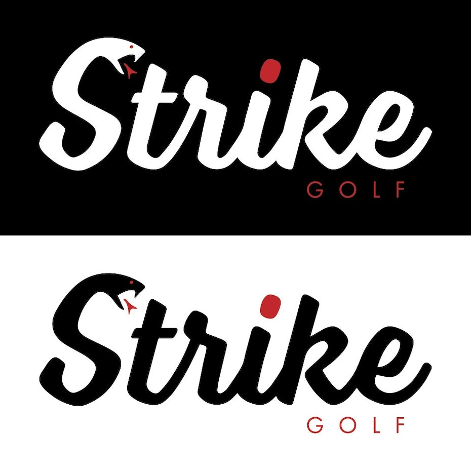 A golf company wordmark logo