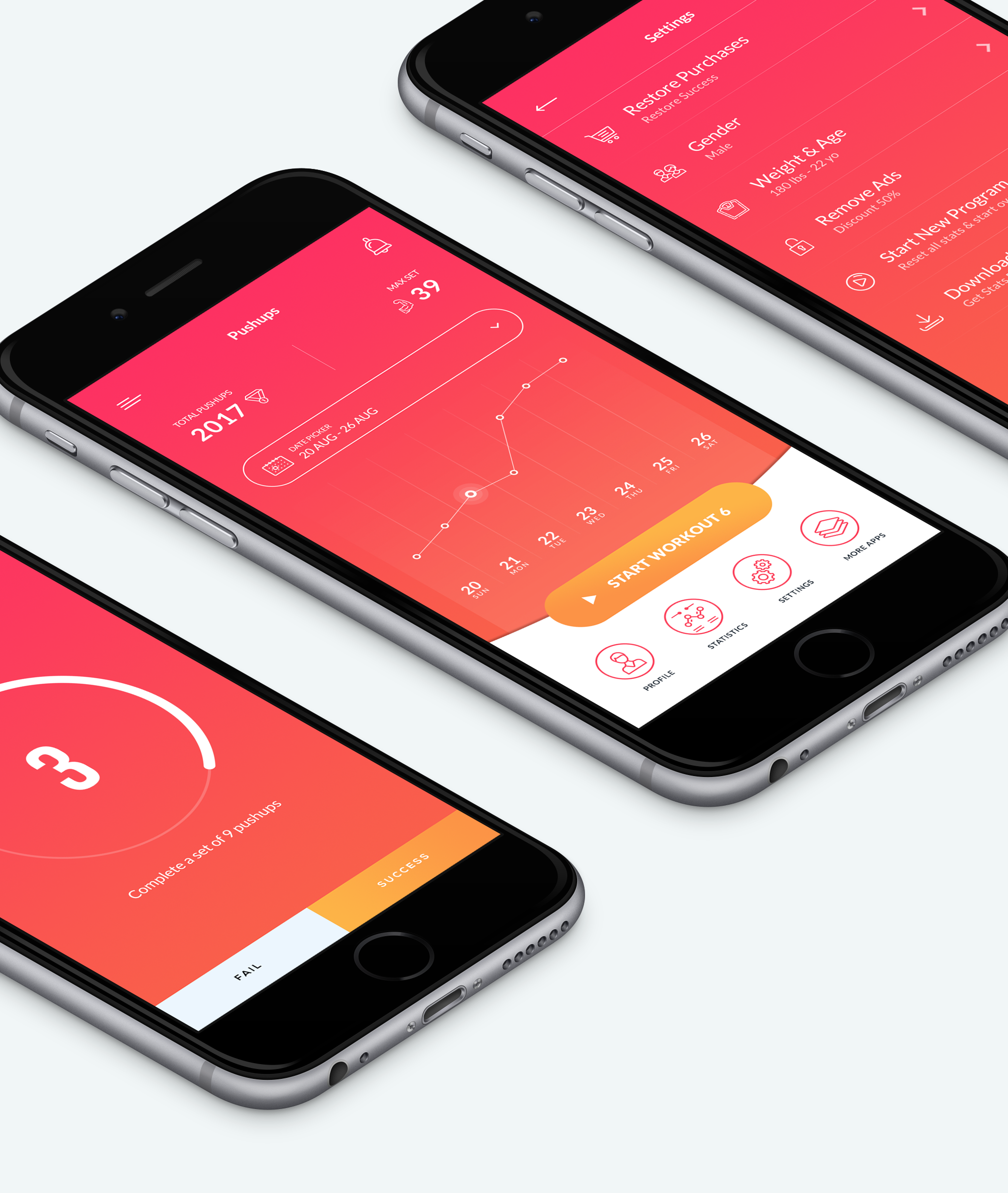 colorful minimal app design