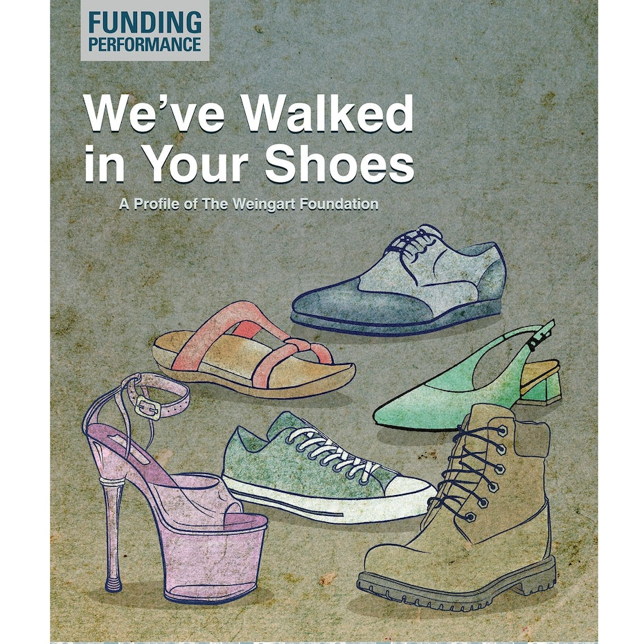 Shoe-themed magazine cover