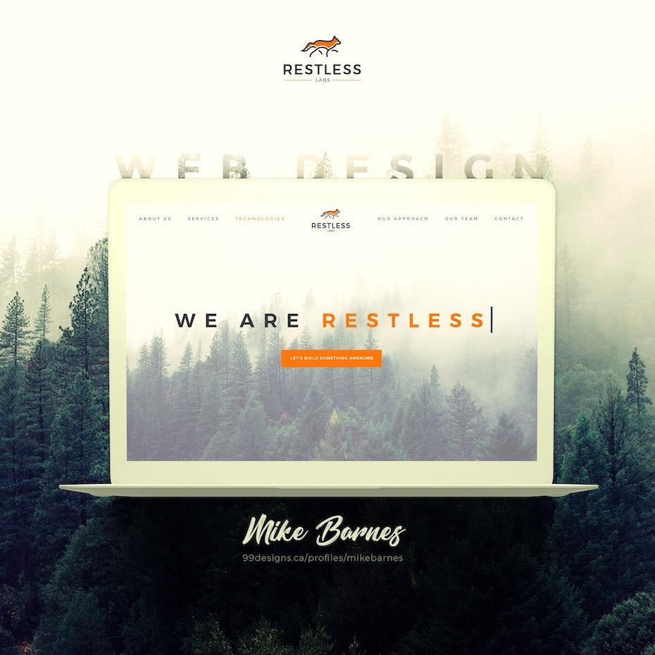 We Are Restless web design