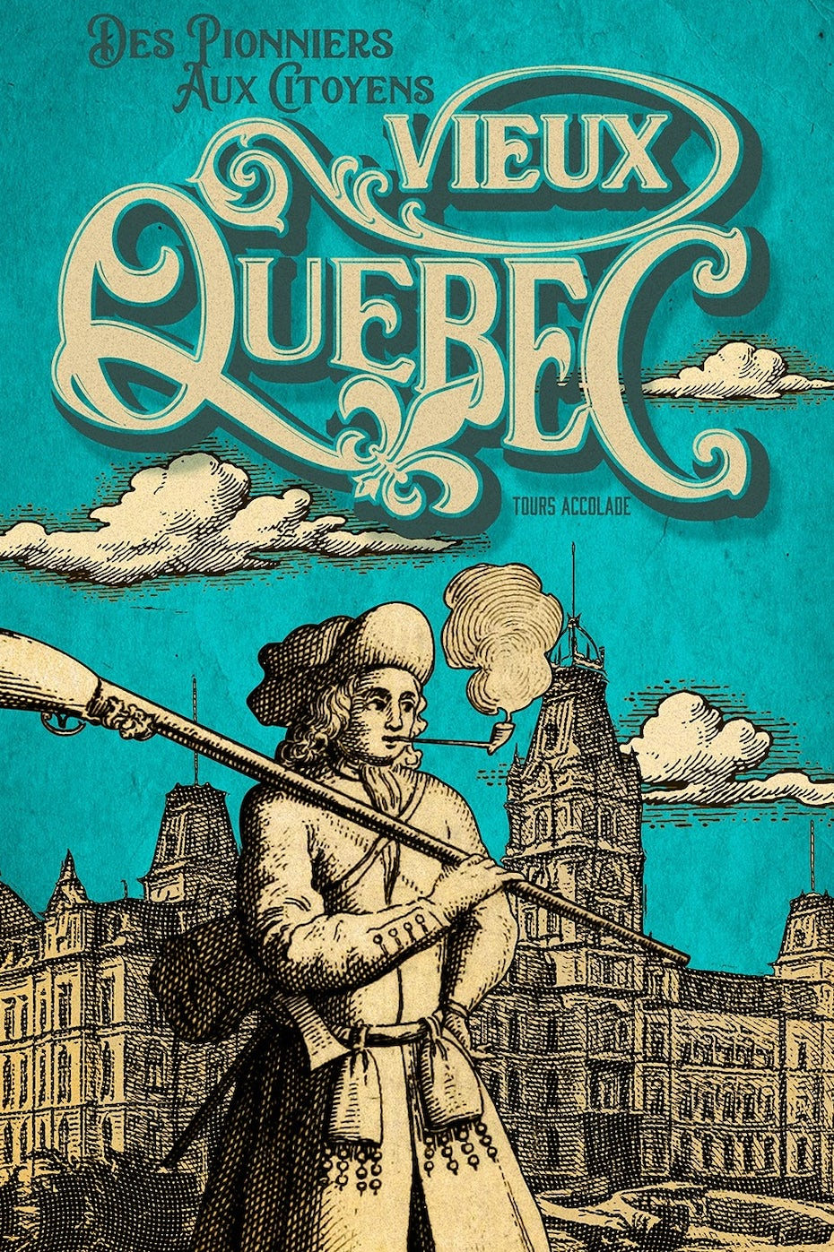 Travel poster for Quebec