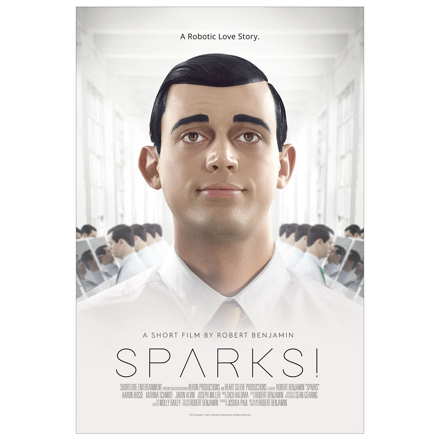 Poster for short film Sparks!