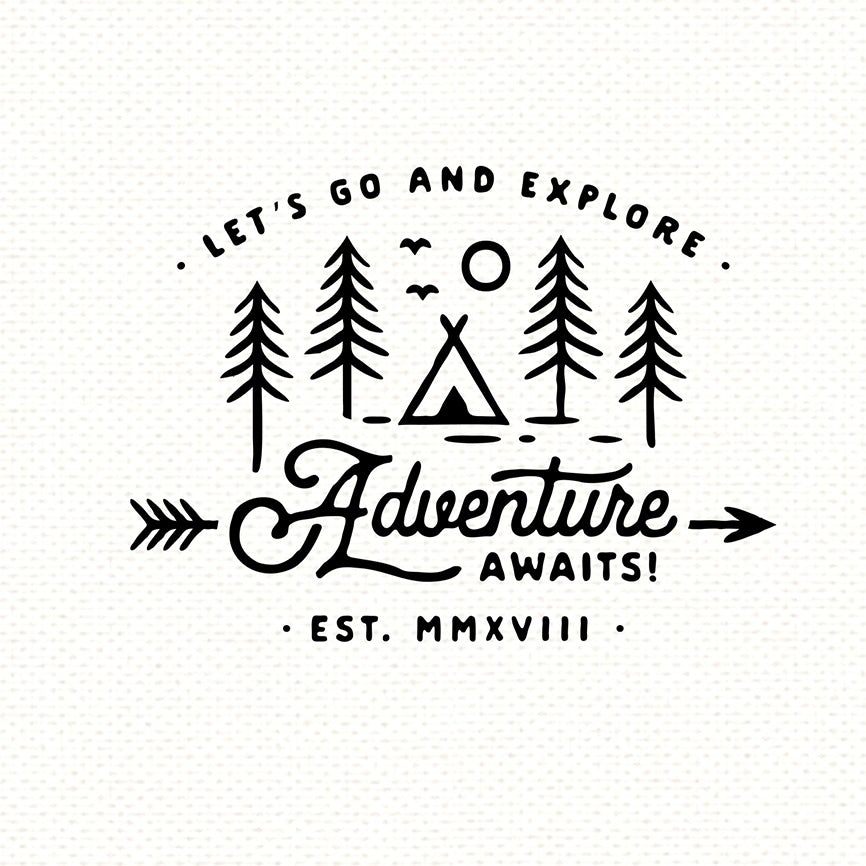 Adventure Awaits mug design
