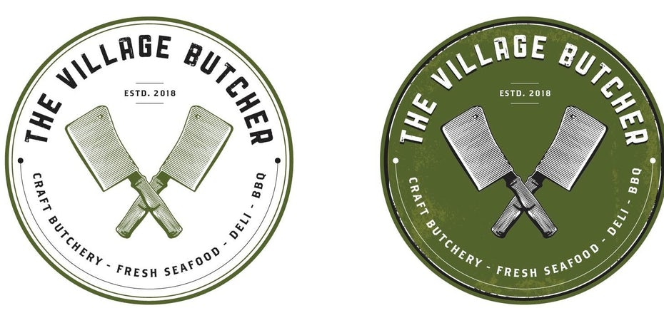 The Village Butcher logos