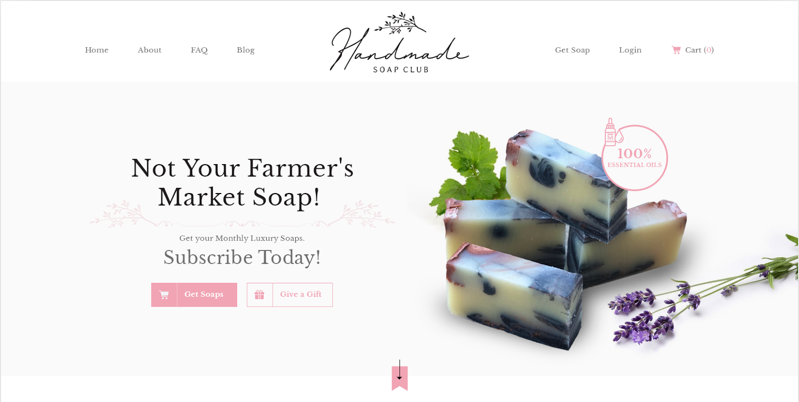 Handmade Soap Club web design