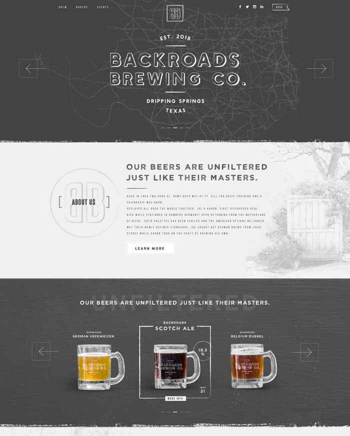 brewery website design